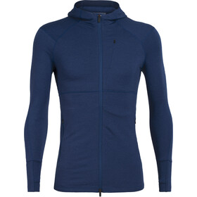 Icebreaker Quantum II LS Zip Hood Men estate blue